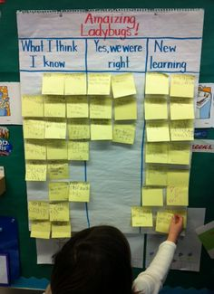 "NF -- ""What I Think I Know"" post-its first, then read NF, move to ""Yes, I was right"" if text supports it, Add ""New learning"" post-its after reading; Read multiple NF about same topic"