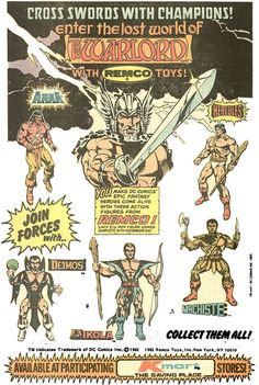 1985 ad for Remco Warlord figures at K-Mart by Paxton Holley, via Flickr