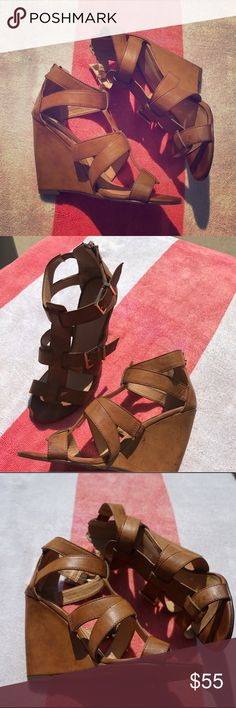 Express wedges Worn once Express Shoes Wedges