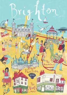Brighton  map - Sia Tzavalas Illustration