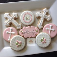 2 dozen christening/ baptism cookies by NatSweetsCookies on Etsy