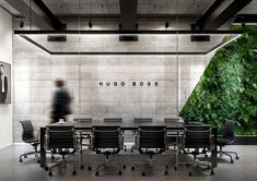 Office Meeting Room Interior Design Concept for Hugo Boss HQ. Open Office Design, Industrial Office Design, Office Interior Design, Office Interiors, Scandinavian Office, Office Meeting, Meeting Rooms, Luxury Office, House
