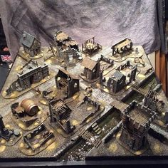 fightingfantasist:  framedog:  diyterrain:  hudsontattoo:  I completed one of my greatest childhood dreams today. 2 weeks worth of building, assembling and painting, £300+ in materials and the feeling of achieving a childhood dream of creating my ideal gaming table to play warhammer and other such games on was priceless. #warhammer #mordheim #wargames #gamingtable  Some very nice work done here. Very well done!  Amazing. I love wargame terrain, especially stuff like this.  Small World! This…