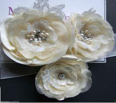Bridal sash, wedding dress sash, bridesmaid belt, White, Ivory satin  Rose sash