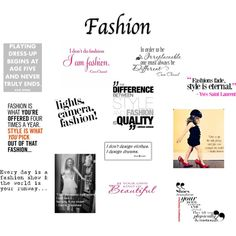 """""""Fashion Quotes"""" by flairbybrandi on Polyvore"""