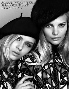 Marloes Horst and Josephine Skriver ph: KAI Z FENG for eifini campaign Tomboy Fashion, Retro Fashion, Fashion Models, Josephine Skriver, French Icons, Vogue, Portrait Inspiration, Character Inspiration, Photography Lessons