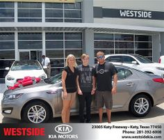 Westside Kia would like to say Congratulations to Harold Brooks on the 2013 Kia Optima from Elhallal Rizkallah