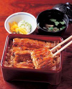 日本人のごはん/お弁当 Japanese meals/Bento 鰻!!!/Unagi. きっと日本なら鰻の生態の謎を解き明かし, 『鰻の完全養殖』を成し遂げてくれると信じているお!!!