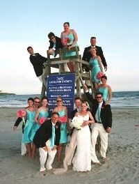 Pictures for a beach wedding.