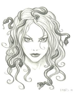 """""""Scott Lewis"""" Medusa - inspiring material for a future tattoo.:) I love the idea of a beautiful Medusa."""