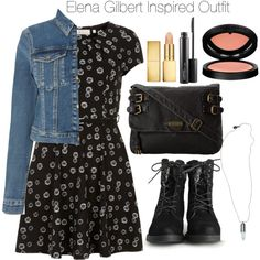 """""""The Vampire Diaries - Elena Gilbert Inspired Outfit"""" by staystronng on Polyvore"""