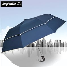 New Style Double Windproof Folding Large Fashion Adults Business Leisure Parasol For Sunny Rain UV Sun Protection male Umbrellas