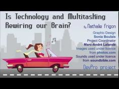 Is Technology and Multitasking Rewiring Our Brain? - by Nathalie Frigon Brain Graphic, Conversation Starters, Professional Development, Family Guy, Teacher, Graphic Design, Technology, Education, Videos