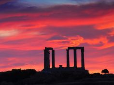 Temple of Poseidon, Cape Sounon, near Athens, Greece:  these images are part of our Free Wallpaper and Free Screensavers