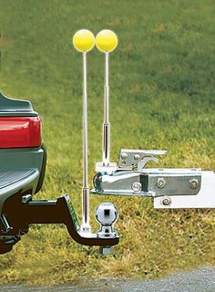Hitching Made Easy with the Solo Hitch Alignment System by Hidden Hitch. Consisting of two telescoping metal rods with magnetic bases, one rod goes on top of the coupler, the other on the ballmount. Florescent balls on the end of each rod make it easy to see your progress – and when the balls touch, you're perfectly aligned. msrp: $23.62. Hidden Hitch, (800) 632-3290, www.hiddenhitch.com.