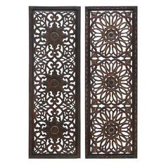 Decor Found it at Wayfair - 2 Piece Panel Wall Décor Set - You'll love the Wood Wall Decor Set at Wayfair - Great Deals on all Décor Metal Wall Panel, Wooden Wall Panels, Decorative Wall Panels, Wood Panel Walls, Wooden Wall Art, Wooden Walls, Wood Paneling, Metal Walls, Wall Decor Set