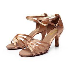 sol lisa latin salsa tilpasses kvinders sandaler satin spænde dansesko (flere farver) – DKK kr. 113