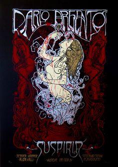 """Suspiria"" (Dario Argento, 1977). A classic cult-art film. Poster by Malleus."