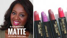 Black Radiance MATTE Lipstick Swatches on Dark Skin