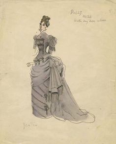 cecil beaton watercolors | 674: Cecil Beaton costume sketch for Mary Kerridge