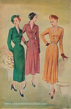 1949 McCalls patterns-Fashion Daytimers by sallyedelstein