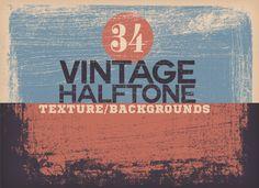 Vintage Halftone Texture/Backgrounds by DesignWorkz on Creative Market