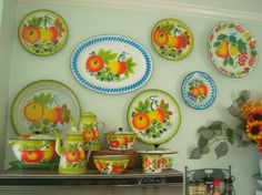 Part of our Vintage Enamelware Collection