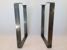 "Items similar to Metal Dining Table Legs , 28 ""x Flat Steel Table Legs, Height To on Etsy"