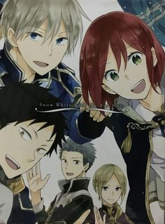 Akagami no Shirayukihime / Snow White with the red hair anime and manga Prince Zen, Shirayuki, Obi, Mitsuhide, and Kiki~ I love this so much! I want this poster Otaku, Me Me Me Anime, Anime Love, Kawaii, Manga Anime, Manga Hair, Anime Snow, Pink Hair Anime, Desenhos Love