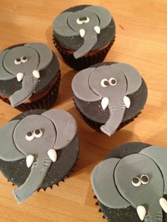 Elephant Cupcakes  on Cake Central
