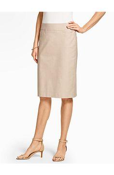 Summer Cotton Pencil Skirt - Talbots