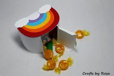Rainbow Favor Box by CraftsbyRosa on Etsy