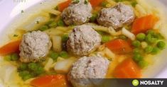 Ragout soup with meatballs Chowder Recipes, Soup Recipes, Cooking Recipes, Hungarian Cuisine, Hungarian Recipes, Beef Tagine, Beef Chorizo, Vegetable Soup Healthy, Italian Soup