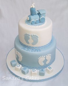 Baby Shower Cake Christening Cake with Train Inspired by The Designer Cake Compa . - Baby Shower Cake Christening Cake with Train Inspired by The Designer Cake Compa … – Cake – # - Baby Shower Cakes For Boys, Baby Boy Cakes, Baby Shower Brunch, Baby Shower Cupcakes, Baby Boy Shower, Babyshower Cake Boy, Gateau Baby Shower Garcon, Baby Boy Christening Cake, Baby Baptism