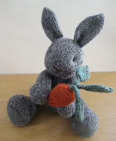What a cute bunny - wish I could knit!
