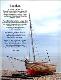 Beached- by Keith Wallis on page 17 of the Ruby for Women eZine, July, 2012