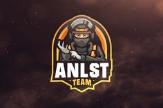 Anlst Team Sport and Esports Logo Template AI, EPS