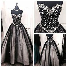 Sweatheart neck prom dress,a-line b..