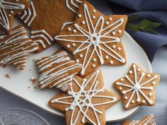 Got a holiday cookie exchange soon? We& got you covered: check out our popular holiday cookies for a wide variety of flavours sure to please all. Ginger Bread Cookies Recipe, Ginger Cookies, Cookie Recipes, Dessert Recipes, Desserts, Whipped Shortbread Cookies, Royal Icing Cookies, Shortbread Bars, Buttery Cookies