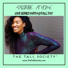 Will you join us for some Tall Talk? Have you wondered what life as a model is like NYC? ⁠ ⁠ We cannot wait for our first #TallTribe at Home IG Live, this coming Friday May 22nd with Tall Sister Taylor Marie. ⁠ Do you have questions for Taylor? Send us a DM on Instagram. We'll see you on  Friday 7pm EST.