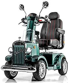 Vintage Mobility Gatsby X Vintage Heavy Duty Fast Mobility Scooter Long Range (Green) Electric Scooter, Electric Cars, Electric Vehicle, Digital Dashboard, Most Popular Cars, Scooter Motorcycle, Swiss Design, Brake System, Custom Wheels