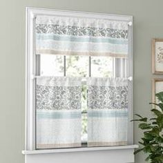 August Grove Chambery Printed and Pieced Rod Pocket Kitchen Curtains Size: L x W Decor, Showcase Design, House Styles, Comforter Sets, Curtains, Kitchen Curtain Sets, White Kitchen Cabinets, Home Decor, Kitchen Curtains