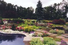Perennial & Annual Garden in Westchester County, NY: Perennial & Annual Flower Garden in Armonk, Westchester County , NY. Flowers Perennials, Planting Flowers, Stepping Stone Pathway, Natural Landscaping, Alpine Garden, Flower Garden Design, Natural Garden, Pathways, Westchester County