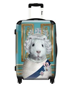 iKase The Queen Rolling Carry-On | zulily // yes that is a guinea pig suitcase and there's different designs too
