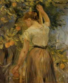 Berthe Morisot, Young Woman Picking Oranges, 1889.