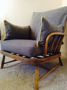 How to Decorate a Bedroom on a Budget, Boho Style Ercol Rocking Chair, Ercol Sofa, Sofa Reupholstery, Rocking Chair Makeover, Ercol Furniture, Upcycled Furniture, Diy Furniture, Living Furniture, Conservatory Chairs