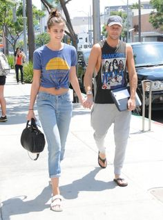 Taylor Marie Hill Photos Photos: Taylor Marie Hill and Michael Stephen Shank Go Out for Lunch in Beverly Hills Victorias Secret Models, Victoria Secret, Taylor Marie Hill, Sport Fashion, Going Out, Mom Jeans, Overalls, Capri Pants, Hollywood