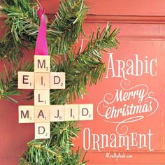 A Crafty Arab: Arabic Merry Christmas Ornament Tutorial. Arab Christians have been a part of American history for generations.  The first Arabs to arrive as immigrants to the United States were Christian who came as early as the mid-18th century.   Christian families in the Middle East and North Africa (MENA) felt that integration into American culture and society may be easier because …