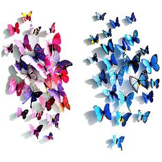 Cheap decorative poster, Buy Quality pvc directly from China butterfly wall stickers Suppliers: 12 Pcs/Lot PVC DIY Butterfly Wall Stickers Home Decor Poster for Kitchen Bathroom Fridge Adhesive to Wall Decals Decoration Sticker Art, Wall Stickers Home Decor, Wall Stickers Murals, Home Decor Wall Art, Decor Room, Mural Wall, Bedroom Decor, Kids Bedroom, Window Stickers