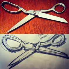Day 16 draw your favorite tool. Gotta love my gingher shears.  #everydaydrawingchallenge #eddc #sketchbooking #drawing #sketching #sketchaday #artshare #arteveryday #artistsoninstagram #artoftheday #dailysketch #blackwoodcottageart #scissors #shears #dressmaker #sewing